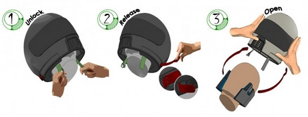 The Splinter motorcycle helmet – safer and easier for paramedics to remove