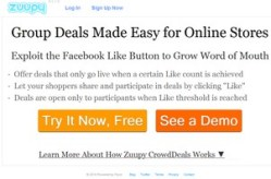 Zuupy – give your small web shop some Groupon sales smarts