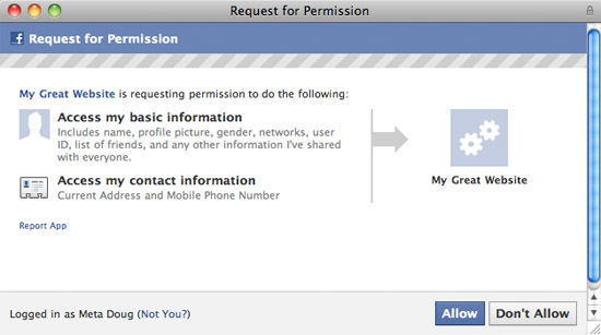 Facebook now allows 3rd party apps to access your address and phone number