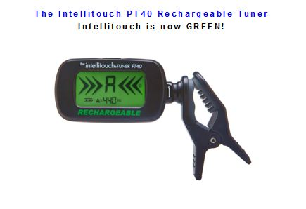 PT40 Tuner is rechargeable, uses vibrations for tuning