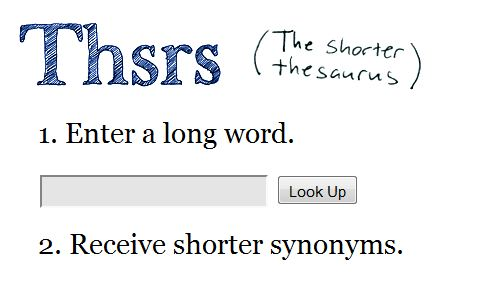 Thsrs – The Twitter thesaurus