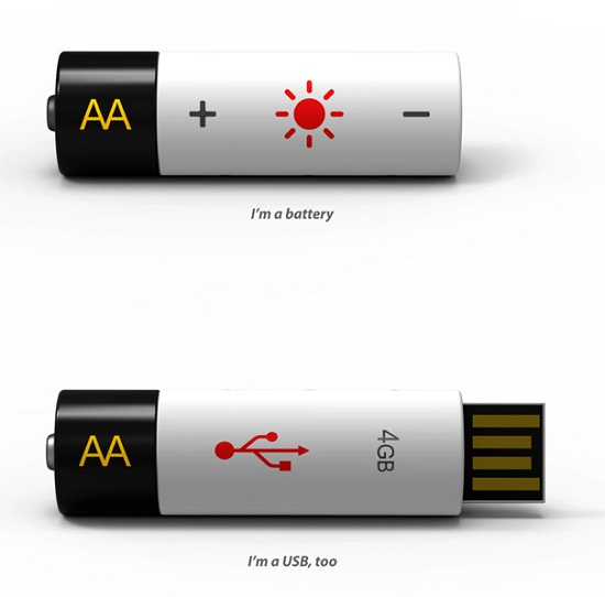 USB Rechargeable Battery Flash Drive