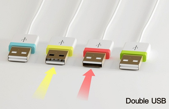 Double USB concept can be plugged in either way