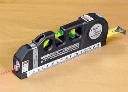 Three-In-One Measuring Tape/Double Ruler/Level