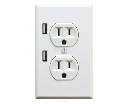 FastMac U-Socket gives you a pair of USB ports for charging gadgets