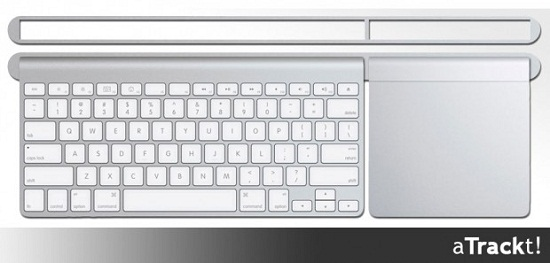 aTrackt keeps your Apple keyboard in place