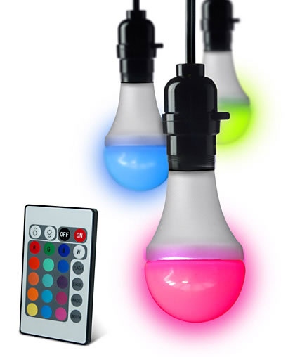 Remote Controlled Color Changing LED Bulb