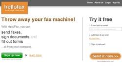 HelloFax – cool online fax machine