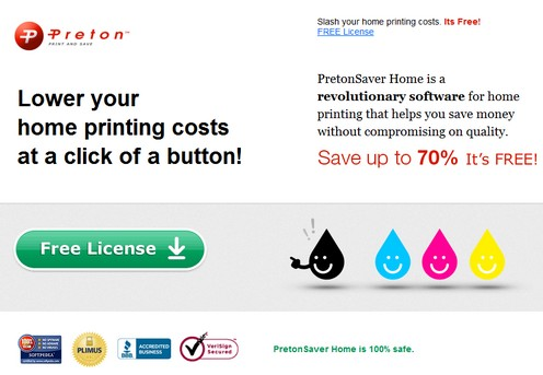 pretonfree small PretonSaver   freeware slashes your inkjet printing costs