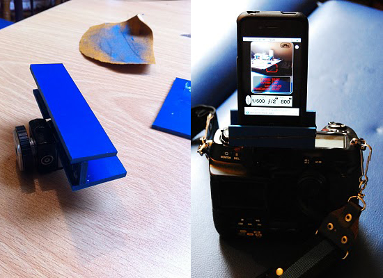 DIY iPhone hotshoe attachment for your DSLR