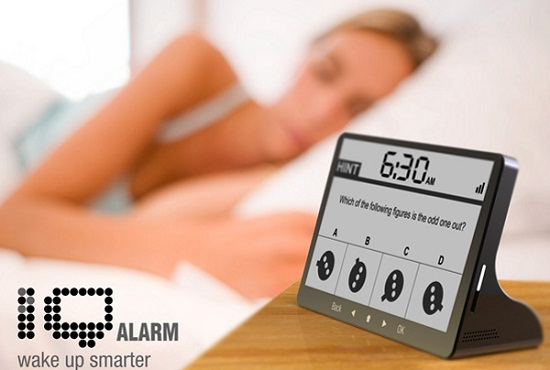 IQ Alarm Clock wakes your brain up