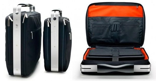 Aluminum Reinforced Laptop Bag keeps your notebook safe, without weighing a ton