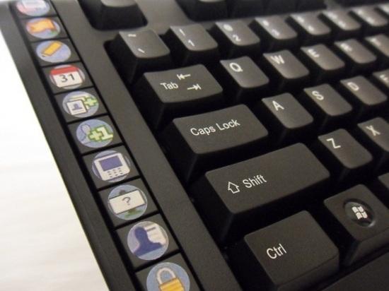 Social Network Access Keyboard