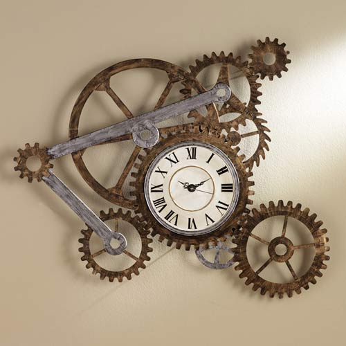 Steampunk Wall Clock adds some interest to your timepiece