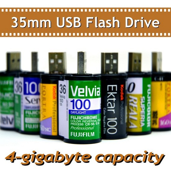 35mm USB Flash Drives won't need to be developed before you can see your pictures