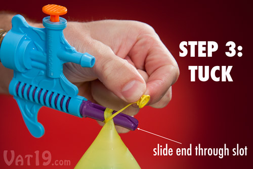 Tie-Not makes filling and tying water balloon easier than ever