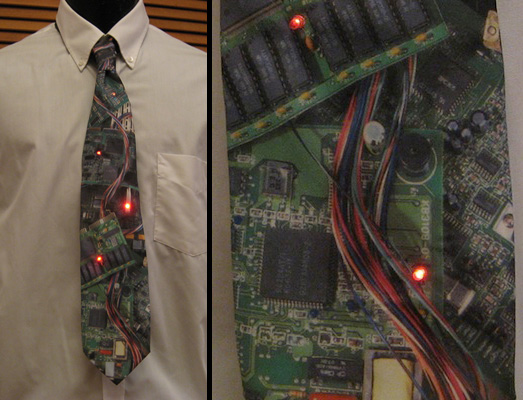 LED Circuit Board Tie is fashionably geeky