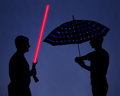 Lumadot LED Umbrella lights your way on those dark, stormy nights