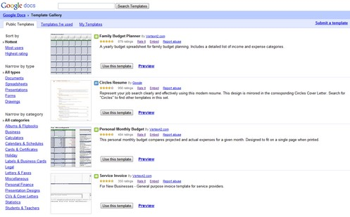 Google Docs Template Gallery – an awesome treasure trove of online ...