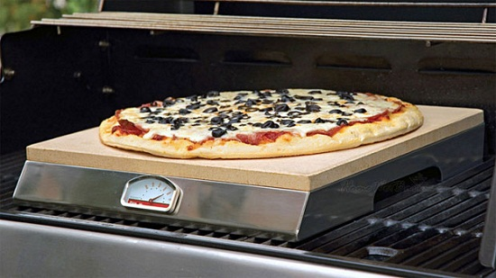 Grill-Top PizzaQue Stone lets you cook your pizza on the grill