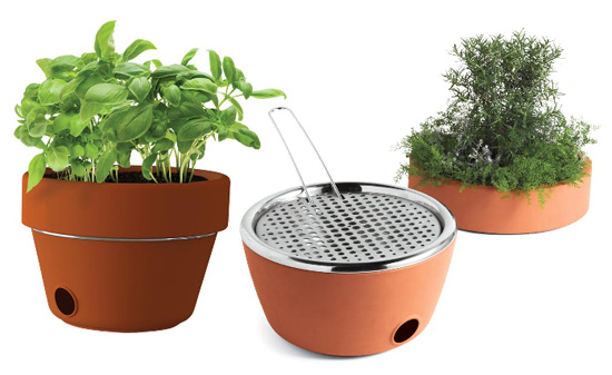 Erbe Planter/Grill combines grilling and gardening, for some reason