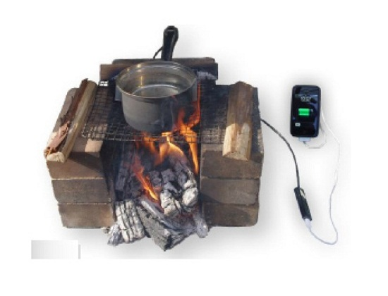 Charge your phone using a pot of boiling water