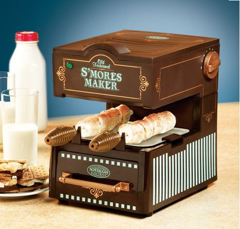 Old Fashioned S'mores Maker brings your campfire treat inside