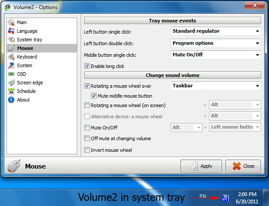 Volume 2 gives you more control over your system volume