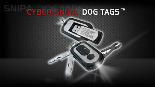Cyber Snipa USB Dog Tags are a mini toolkit in disguise