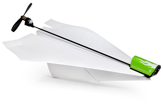 Make your paper airplanes soar with this electric conversion kit