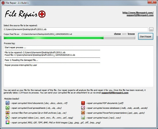 Use File Repair to freely repair corrupted files