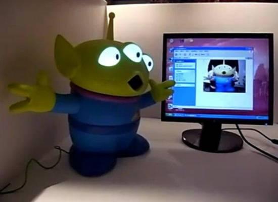 Toy Story Giant Alien USB Webcam