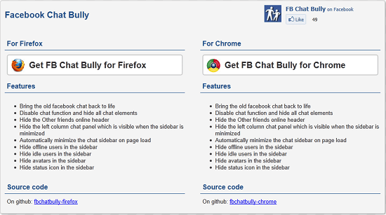 Facbook Chat Bully lets you customize Facebook Chat