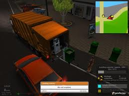 The Garbage Truck Simulator puts you in the drivers seat