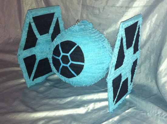 Tie Fighter Pinata is no match for the power of the Force