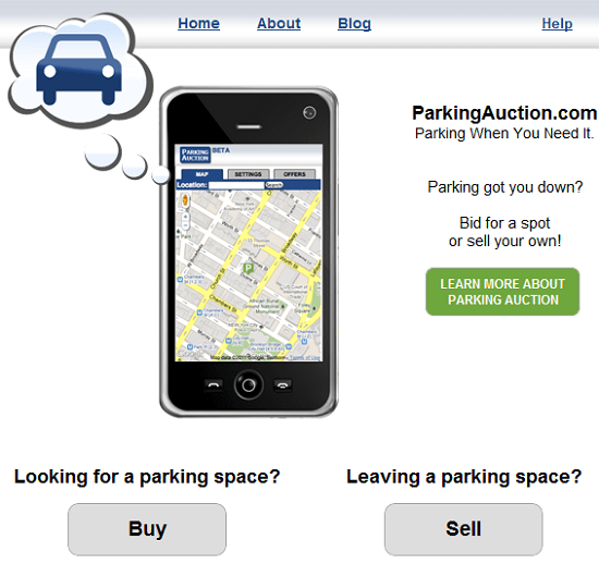 Parking Auction lets you bid on a good place to park