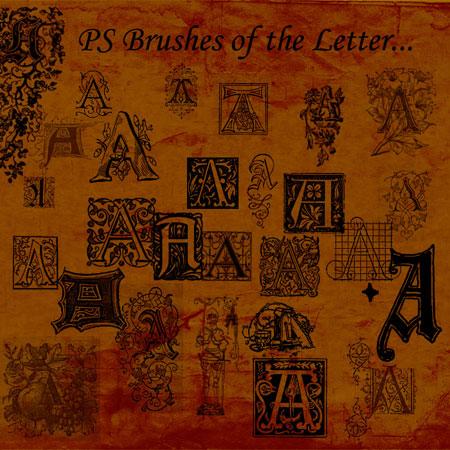 20110906 ays Free Photoshop typography brushes