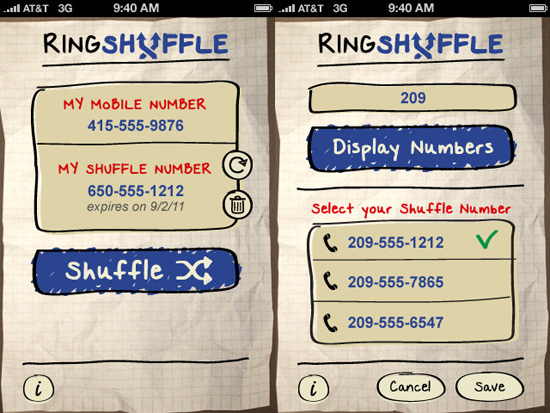RingShuffle brings temporary phone numbers to your iPhone