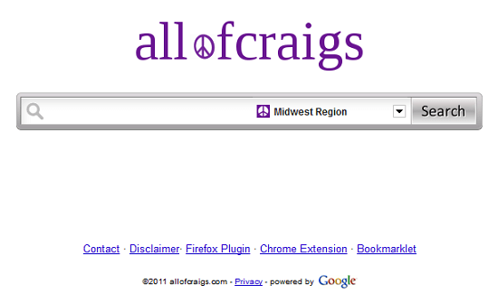Allofcraigs makes searching Craigslist a little easier