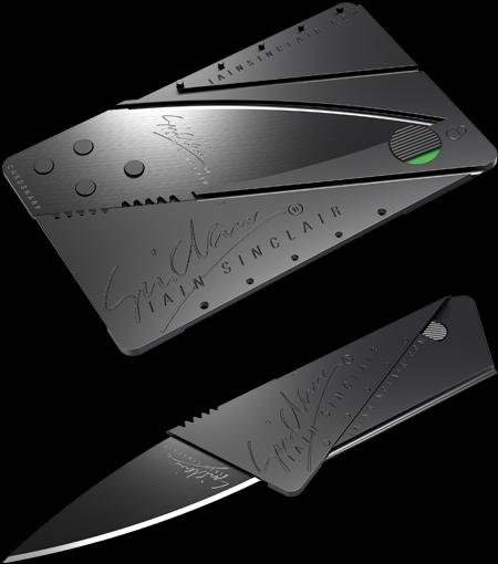 CardSharp is a 2.5-inch knife that fits in your wallet