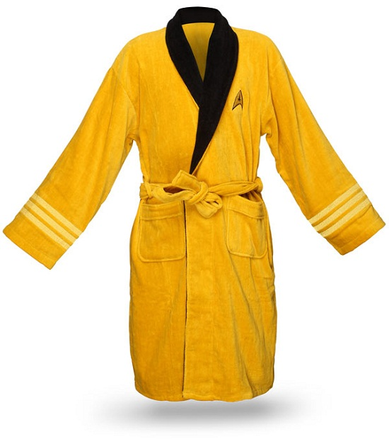 Star Trek Bathrobes are perfect for lounging about the Enterprise
