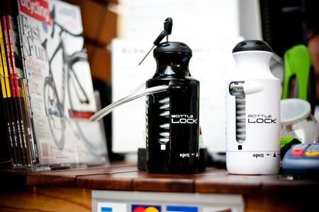 A water bottle that's really a bike lock