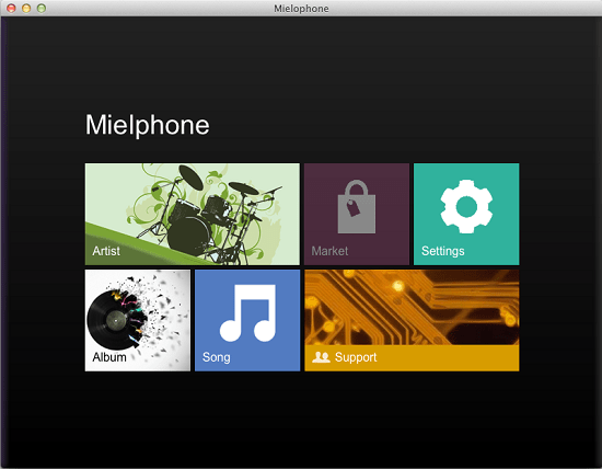 Mielophone is a minimalistic free music player for Windows, Mac and Linux