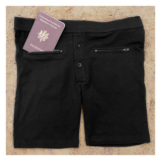 Underwear with pockets keeps your wallet and passport safe