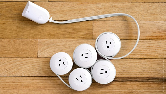Pod Power gives you outlets exactly where you need them.