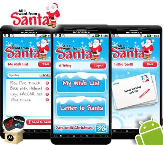 All I Want From Santa app upgrades the traditional letter to Santa