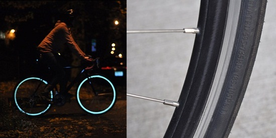 Fiks: Reflective Rim-Strips light up your bike wheels