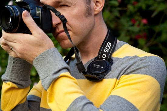 Lens Cap Strap Holder keeps your cap from getting lost