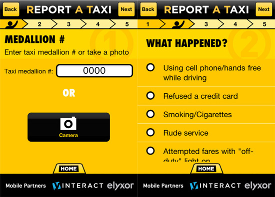 Report bad cab drivers with the ReportATaxi app