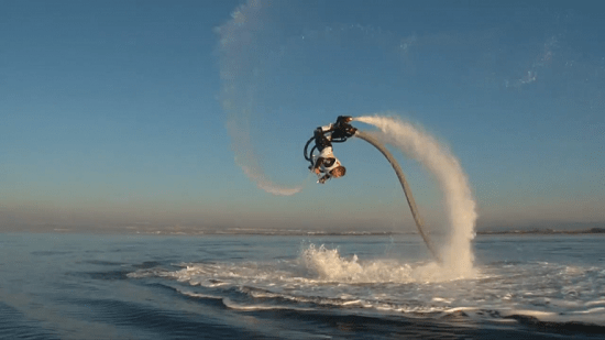Zapata Flyboard gives you more control and costs less than previous jetpacks